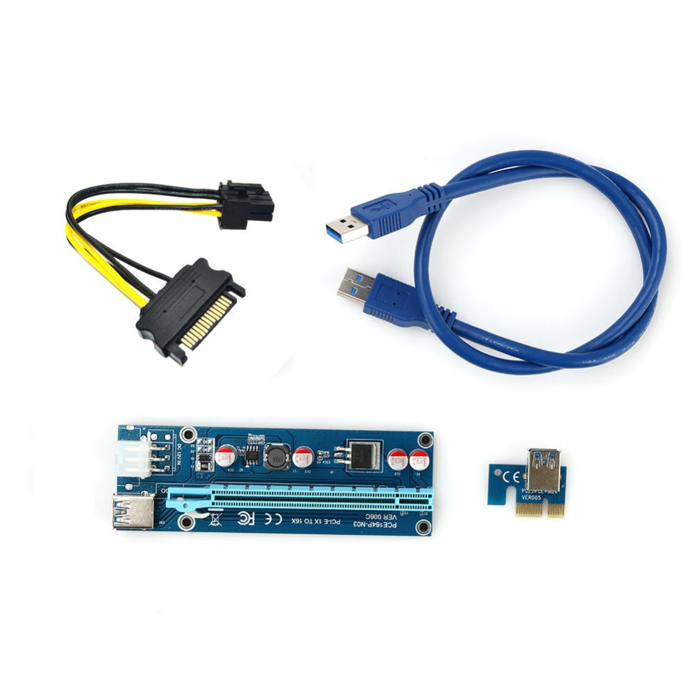 60cm Pci E Express Riser 1x To 16x To Usb 3 0 Cable 6pin
