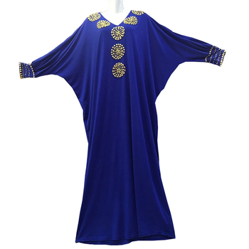 New arrive free size muslim abaya for women with hand made beads online wholesale