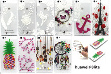 Ultra Slim Gel TPU Rubber Embossed 3D Silicone Back Cover Soft Transparent Frame Phone Case For huawei P8 lite 5.0″