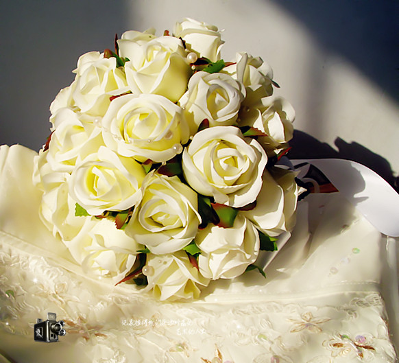 Wedding Flowers Cheap Online: 2016 Cheap New In Stock Wedding Bouquet Bridal Bridesmaid