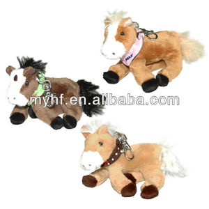 High quality cheap price custom plush mini keychain horse toy