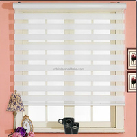 superior materials automatic modern Eco-Friendly Zebra blinds