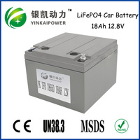 2016 New Products 12V lifepo4 car battery 18Ah for starting Autos, Cars