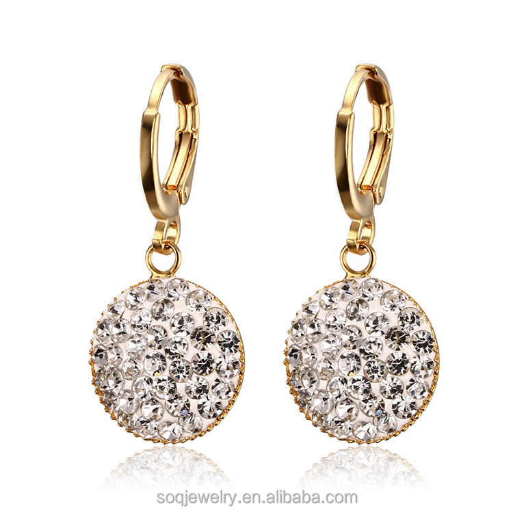 European Style Women's Fashion Jewelry Gold plated with Cubic Zirconia Diamond Earring