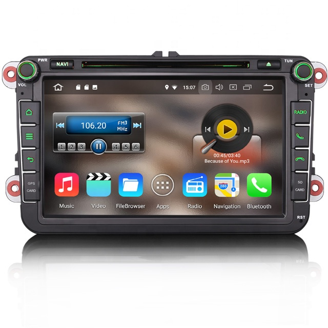 Erisin ES3645V Android 8.1 4G WiFi DAB TPMS GPS autoradio lecteur dvd pour VW Golf