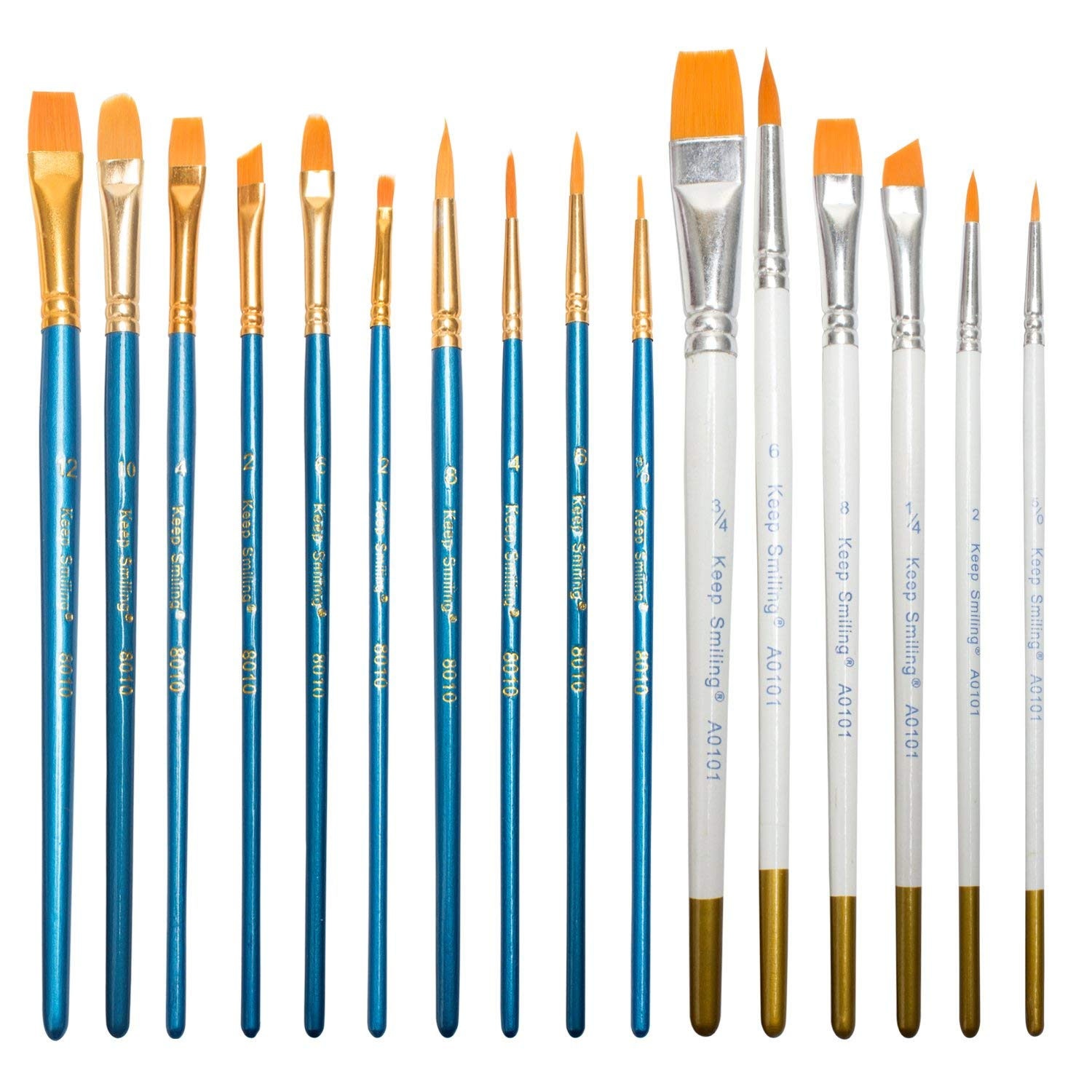 FASOTY 16 Pack Paint Brush Set Acrylic Professional Paint Brushes Artist for Watercolor Oil Acrylic Painting