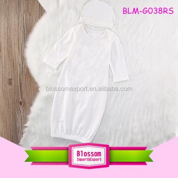 Hot Sale! Blank Unisex Infant Raglan Gown Baby Layette Cotton Baby ...
