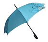 Light blue polyester J handle straight up umbrella company