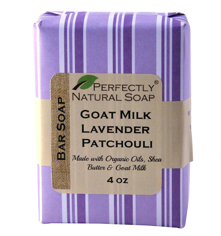 Goat Milk Lavender Patchouli All Natural Handmade Bar Soap, 4 oz.