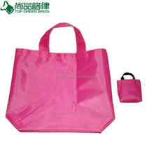 promotion polyester foldable tote shopping pouch, reusable folding shopper