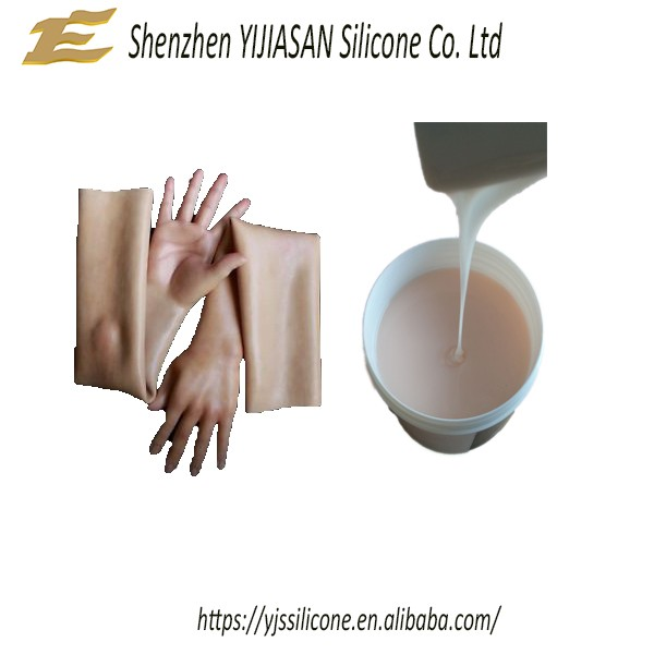RTV-2 platinum cure liquid silicone rubber to make artificial hands or limbs