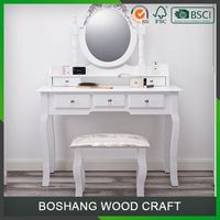 Cheap White Painted Furniture Dressing Table With Mirror