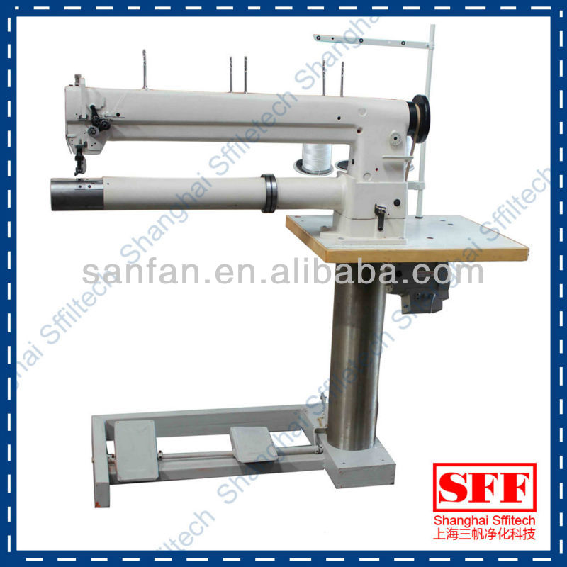 industrial double needle long arm sewing machine