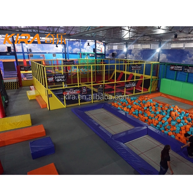 Cheap Indoor Commercial Used Trampoline Parks Square Trampoline With Foam Pit