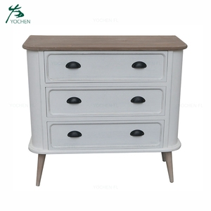 French style white console table modern wooden cabinet