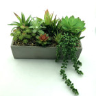 Variety kinds of artificial plant and flower in cement pot garden and home decoration free assorted outdoor artificial bonsai