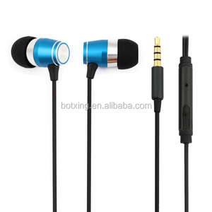 Hot sale blue color earpiece fm radio in ear earphone with earphone speaker