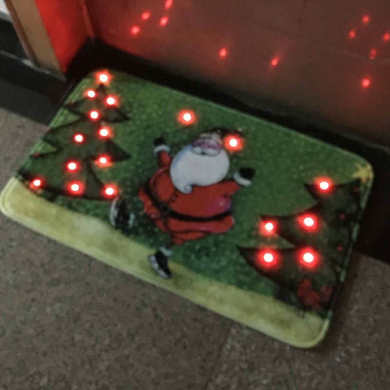 Holloween Touch Step Motion Activated Screaming Door Mats With LED Lights