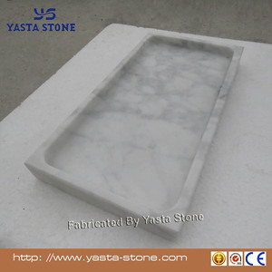 Carrara White Marble Stone Vanity Tray Deluxe Marble Stone Guest Towel Tray
