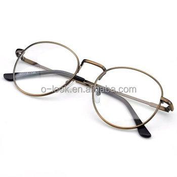 3c8ded678256 Oversized Metal Frame Clear Lens Round Circle Eye Glasses Frame ...