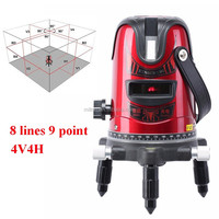 8 lines 9 point 4V4H Laser line rotary Cross line laser level