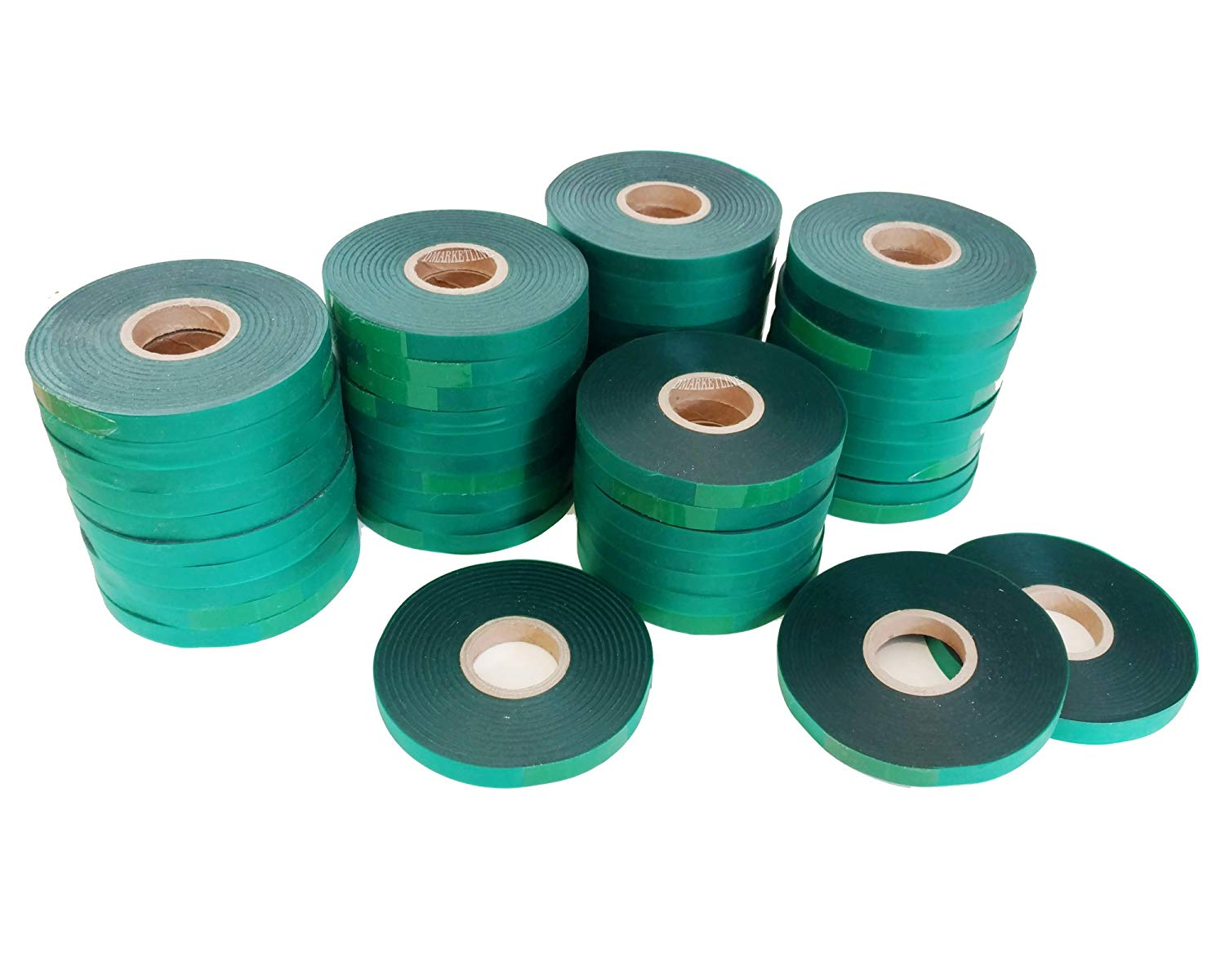 "50 Rolls-4mil each 300 FEET x 1/2"" Stretchy strong long lasting Tie Quality Tape Plant Ribbon Garden Vinyl sturdy Liston Help you guide cuttings branches Dmarketline"