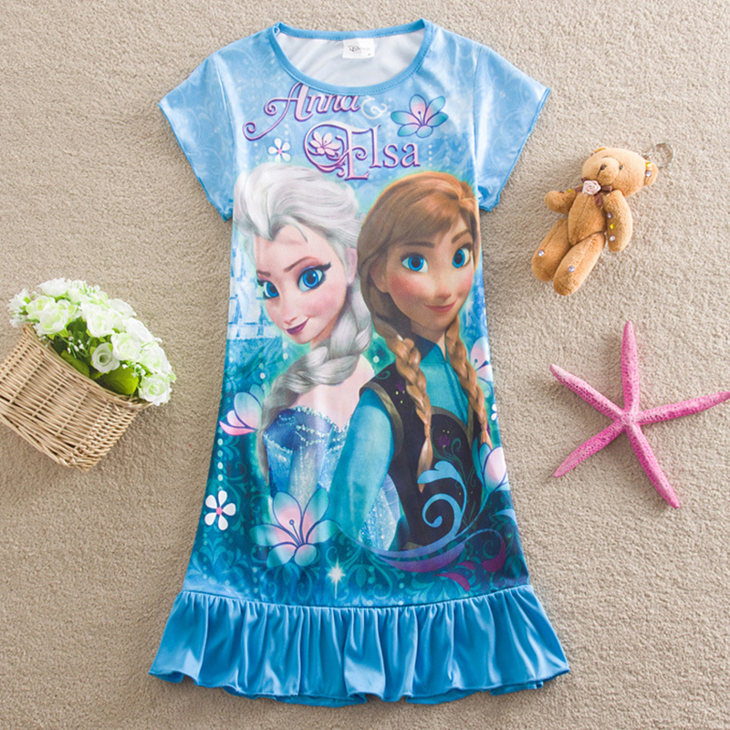 Girls Anna&Elsa Dress New Brand Children Clothing Fashion Kid Girls Princess Clothes Party Dress Nightgown Fashion Girls Costume