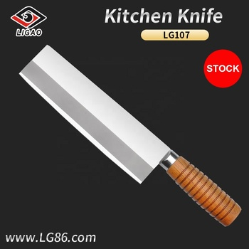 "8"" eco-friendly chopper for kitchen and hotel with crude wood handle"