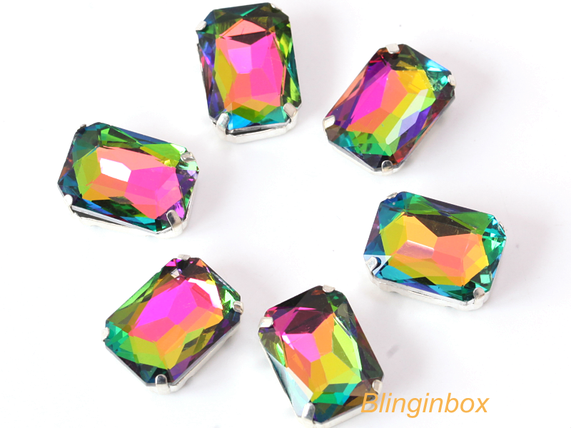Wholesale 50 colors glass drop shape crystal fancy stones sew on with claw