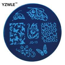 Aço 1 Pcs inoxidável YZWLE Stamp estamparia imagem modelo placas Manicure DIY Nail polonês ferramentas ( JQ-13 )
