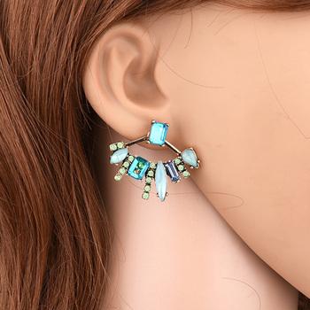 Nachgemachter Rubin Schmuck Damen Einfache Moderne Ohrringe
