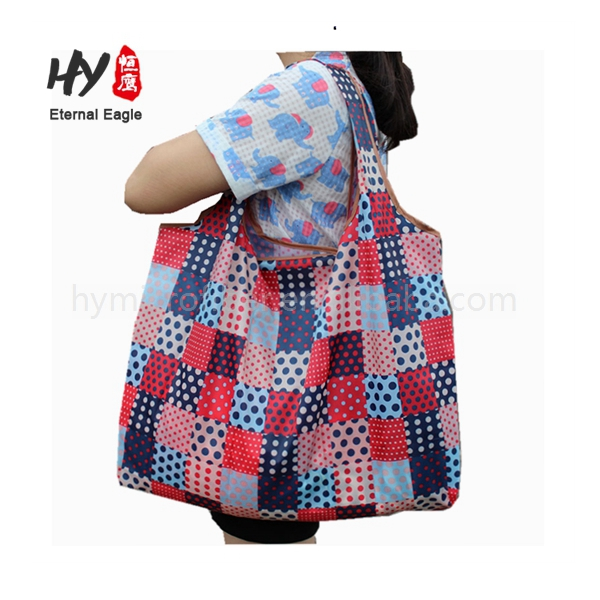 Finely processed foldable dacron shopping bag