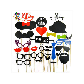 Diy Photo Booth Props Parties Funny On Stick Moustaches Hpc 0303