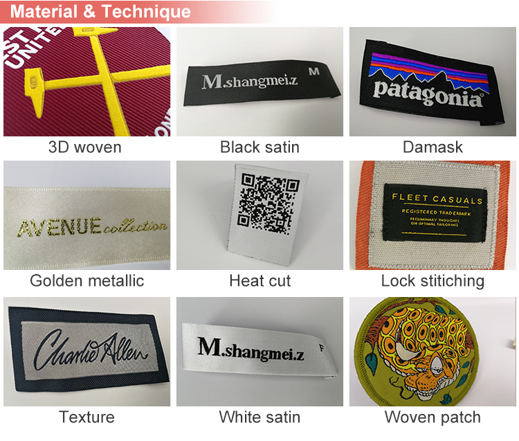 Wholesale Cheap Eco-Friendly End Fold Yarn Woven Label