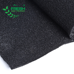 Activated carbon black filter sponge 25ppi filter foam