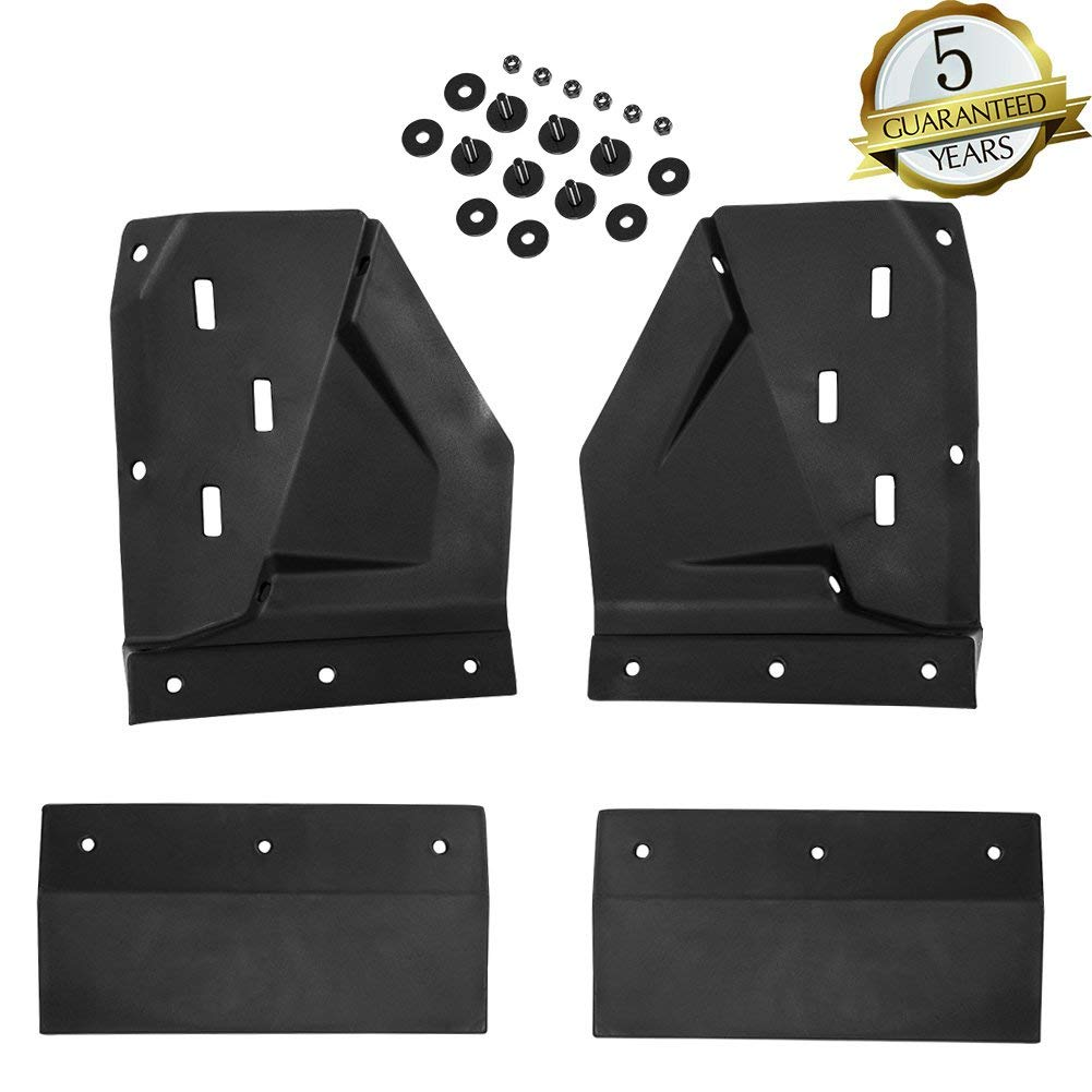 KIWI MASTER Front Mud Guards for 2014-2018 Polaris RZR XP 1000 Mud Flaps Fenders for RZR XP Turbo 1000,Black,1 Set
