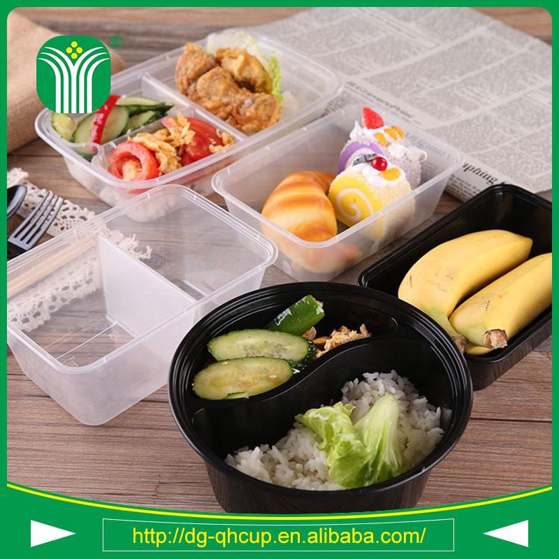 Top quality pp plastic material disposable bowls and lids 20oz