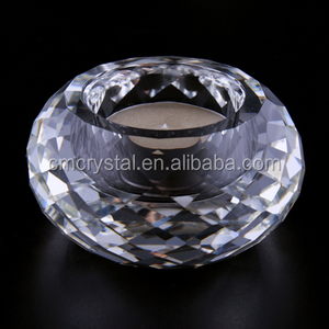 Customized faceted crystal candle holder,faceted tealight holder
