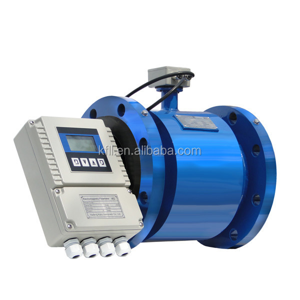 electro magnetic 4-20ma water output flow meter