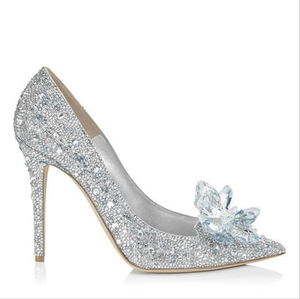 SH001 elegant wedding gown shoes handmade crystal shoes bridal dress party pumps design shoes for bride