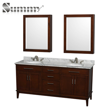 Unfinished Wood Pvc Bathroom Cabinet Double Sink Wooden Clic Used Bath Vanity