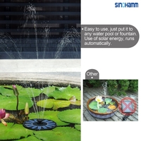 Solar Power Fountain, Water Floating Pump Kit for Bird Bath,Fish Tank,Small Pond,Garden sinohamm made in shenzhen