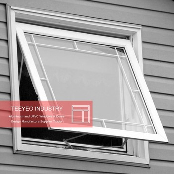 Teeyeo hot design double glazing upvc pvc awning windows for Pvc double glazing