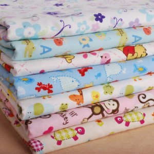 STOCK LOT 100% COTTON FLANNEL FABRIC WHOLESALE CUSTOM DOUBLE BRUSHED PRINT FLANNEL FOR BABY DIAPER