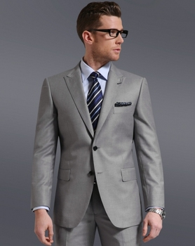 coat+pants+tie) Lln016 Ternos Slim Fit Suit Light Grey Mens Suit ...