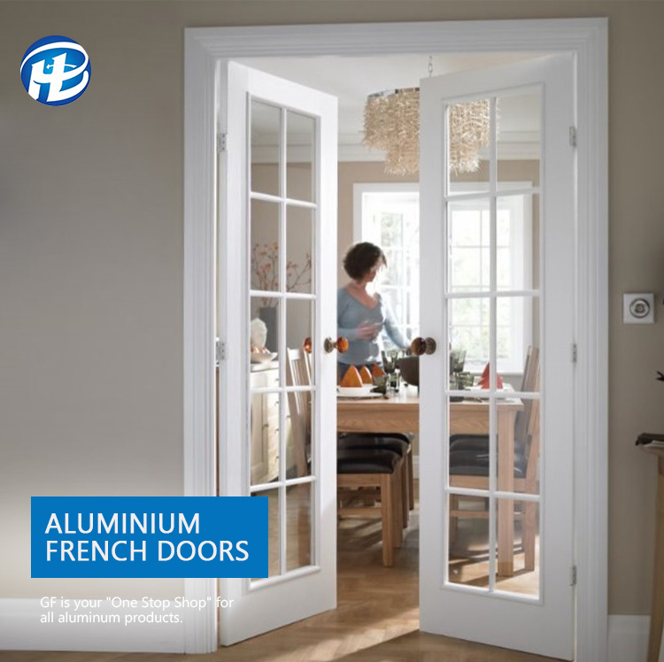 Residential Aluminum Double Entry French Doors Exterior Home Doors