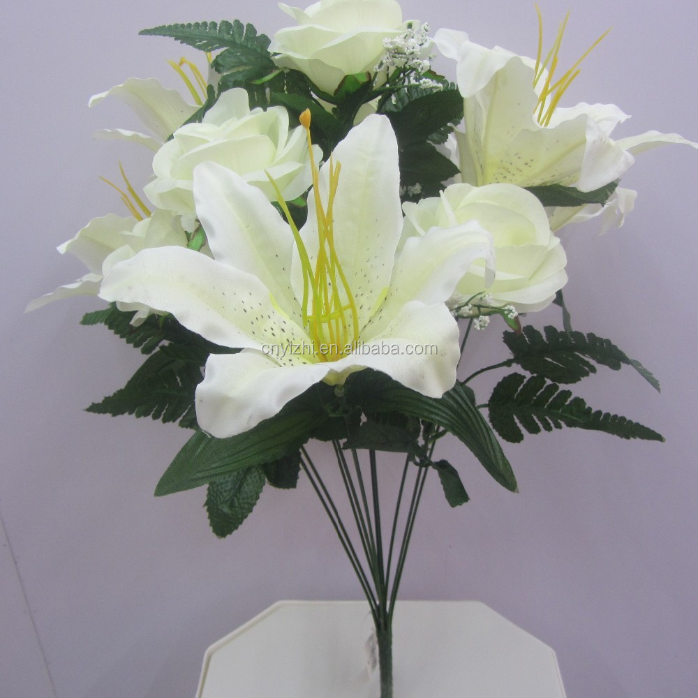 Real Touch Artificial Flower Lily Rose Newest Design Lily Flower