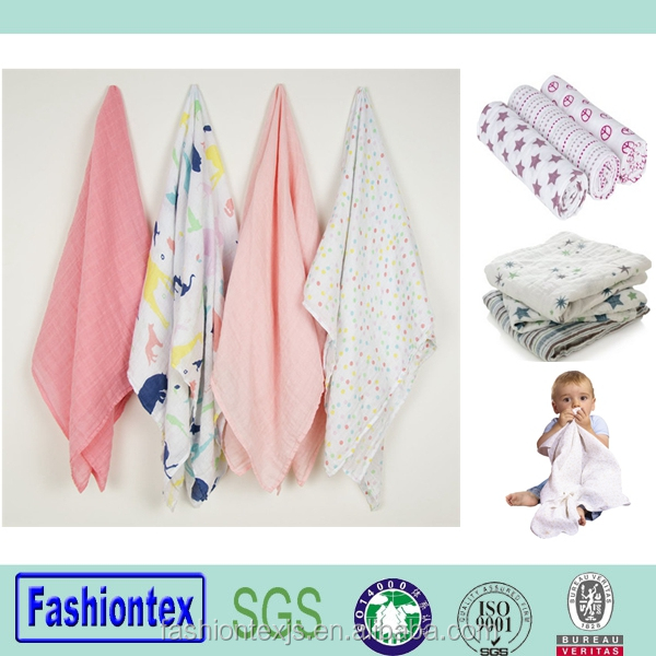 Reach SGS certificated cotton wrap swaddle muslin dream blanket