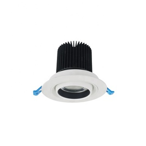 Dimmable round recessed 10w 15w 24w cob led down light spotlight