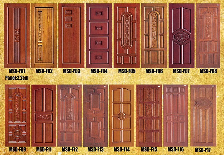 New design internal fire resistant wooden door for room for Wooden single door design for home
